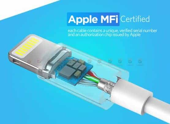 สายชาร์จไอโฟน Ugreen MFi Lightning to USB Cable for iPhone X 7 6 5 6s Plus Fast Charging-6