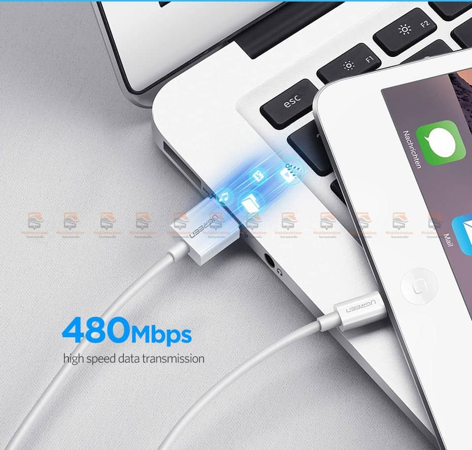สายชาร์จ Ugreen MFi Lightning to USB Cable for iPhone X 7 6 5 6s Plus Fast Charging-7