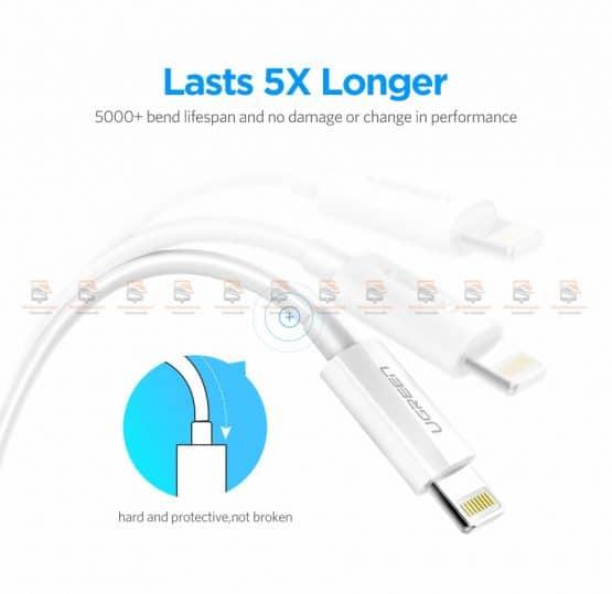 สายชาร์จไอโฟน Ugreen MFi Lightning to USB Cable for iPhone X 7 6 5 6s Plus Fast Charging-9