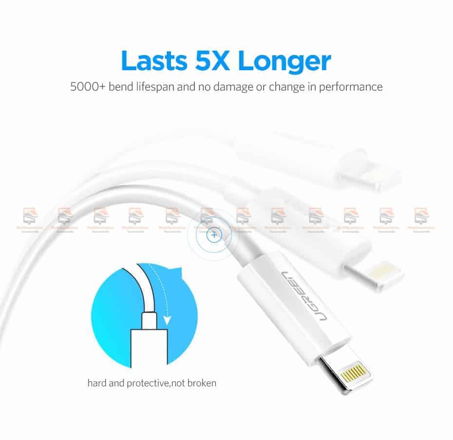 สายชาร์จ Ugreen MFi Lightning to USB Cable for iPhone X 7 6 5 6s Plus Fast Charging-9