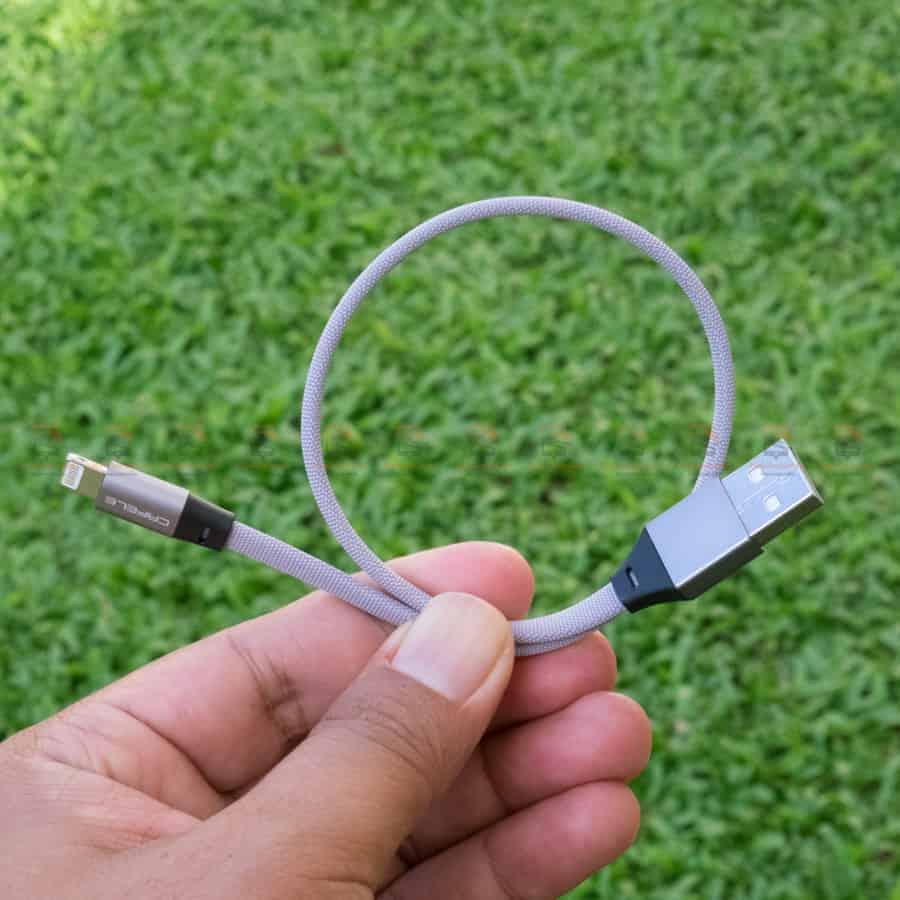 สายชาร์จ iPhone สั้น X 8 7 6 5 SE Cafele USB Cable Fast Charging Data Cable ยาว 30 Cm สินค้าจริง-2