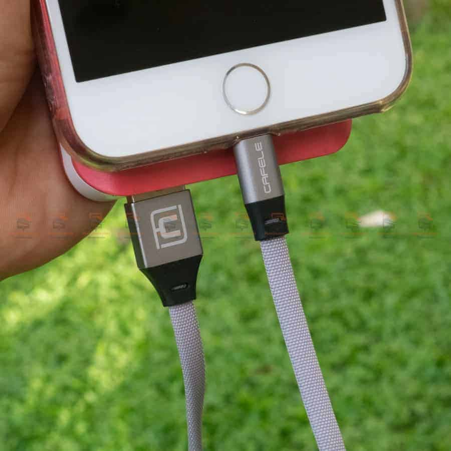 สายชาร์จ iPhone สั้น X 8 7 6 5 SE Cafele USB Cable Fast Charging Data Cable ยาว 30 Cm สินค้าจริง-4