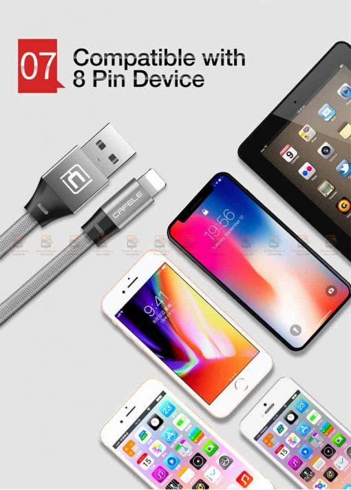 สายชาร์จ iPhone สั้น X 8 7 6 5 SE Cafele USB Cable Fast Charging Data Cable ยาว 30 Cm-10