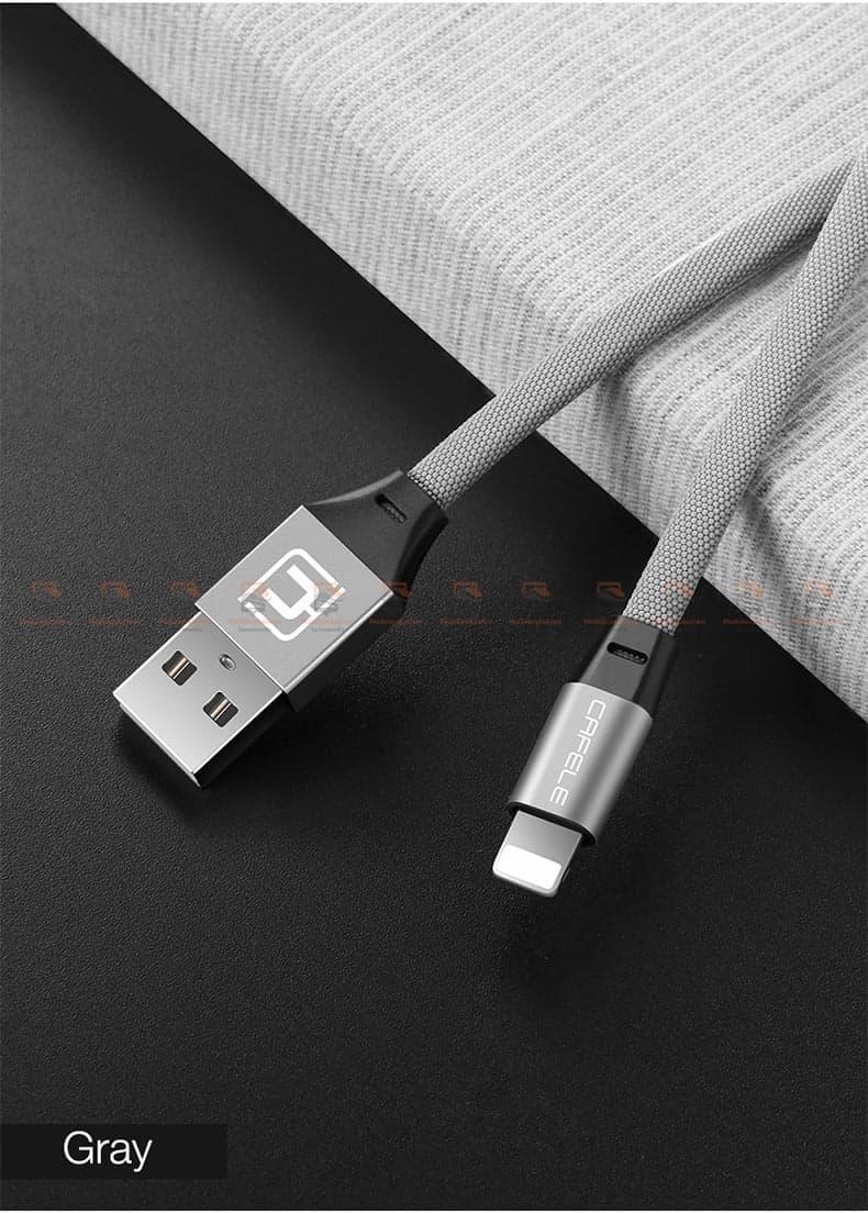 สายชาร์จ iPhone X 8 7 6 5 SE Cafele USB Cable Fast Charging Data Cable สั้น 30-11