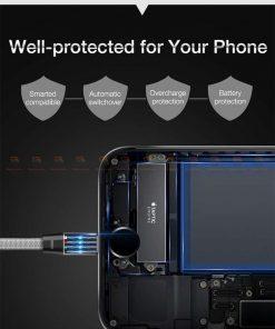 สายชาร์จ iPhone สั้น X 8 7 6 5 SE Cafele USB Cable Fast Charging Data Cable ยาว 30 Cm-3