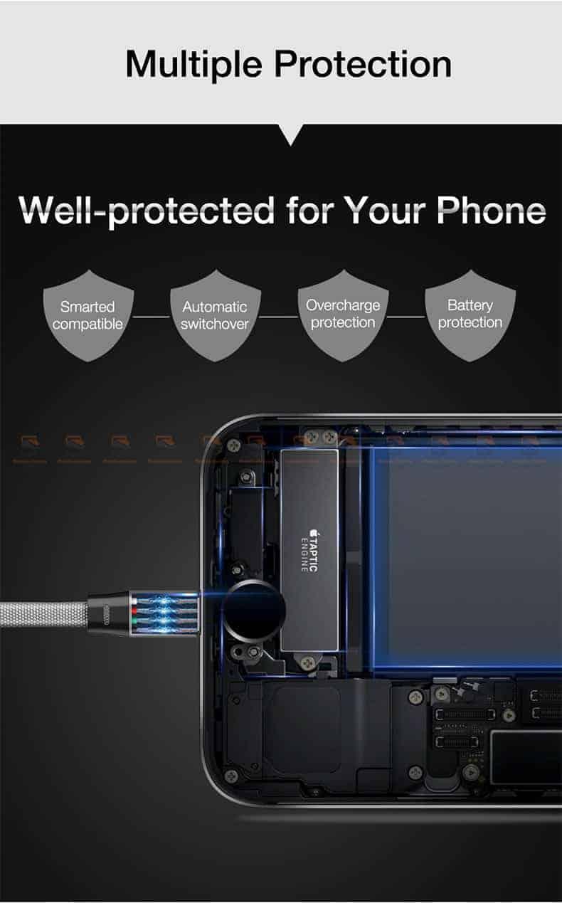 สายชาร์จ iPhone X 8 7 6 5 SE Cafele USB Cable Fast Charging Data Cable สั้น 30-3