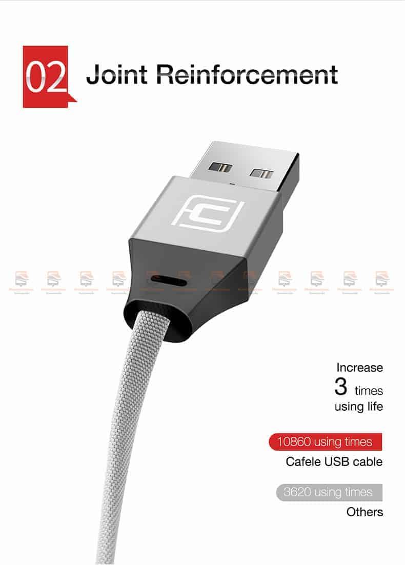 สายชาร์จ iPhone X 8 7 6 5 SE Cafele USB Cable Fast Charging Data Cable สั้น 30-5