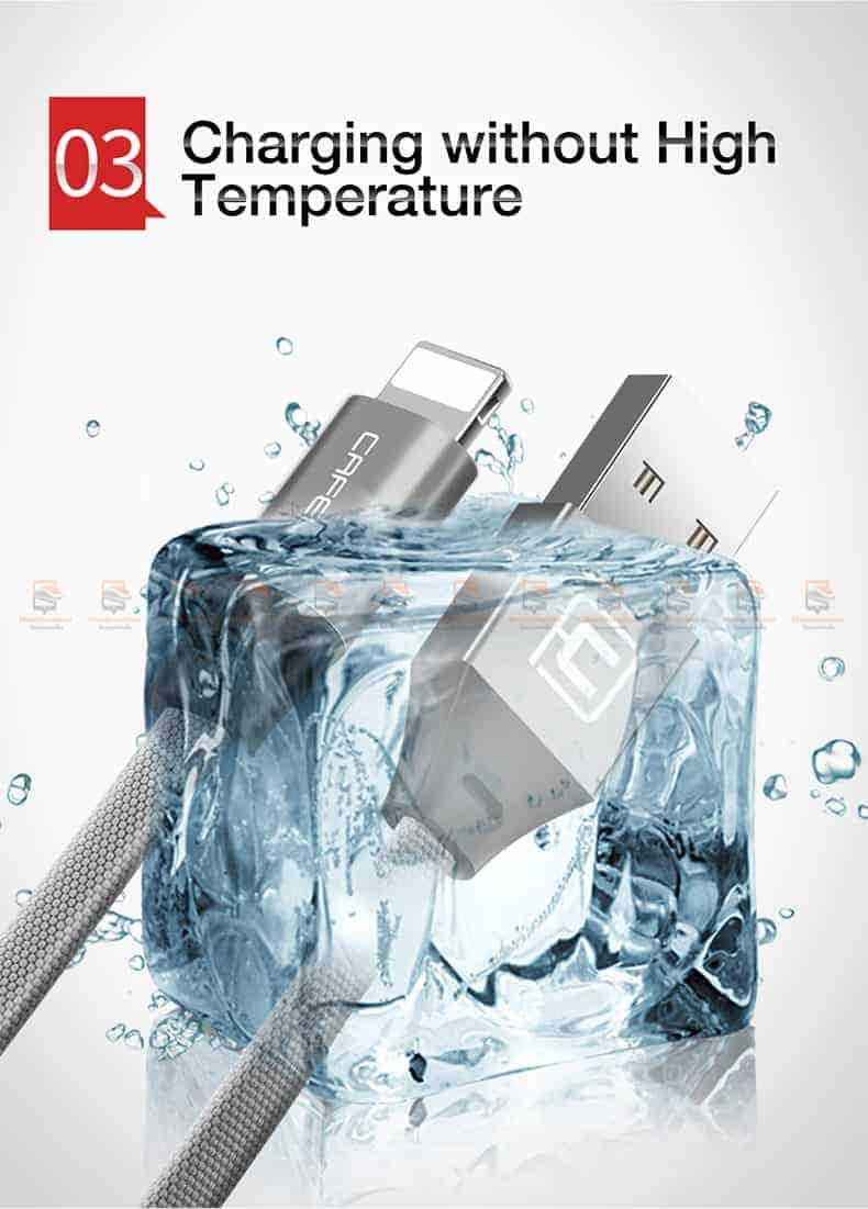 สายชาร์จ iPhone X 8 7 6 5 SE Cafele USB Cable Fast Charging Data Cable สั้น 30-6