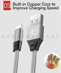 สายชาร์จ iPhone สั้น X 8 7 6 5 SE Cafele USB Cable Fast Charging Data Cable ยาว 30 Cm-8