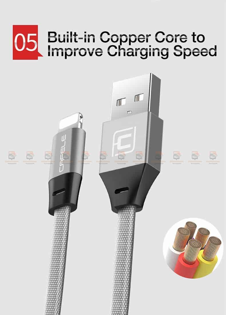 สายชาร์จ iPhone X 8 7 6 5 SE Cafele USB Cable Fast Charging Data Cable สั้น 30-8