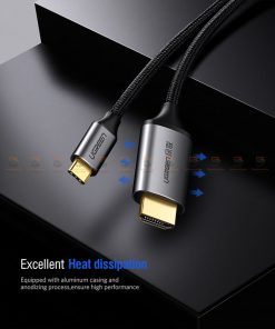 Type-C to HDMI Thunderbolt 3 for MacBook Samsung Galaxy S9/S8 Huawei Mate 10 Pro P20 USB-C HDMI Adapter BYUgreen-10