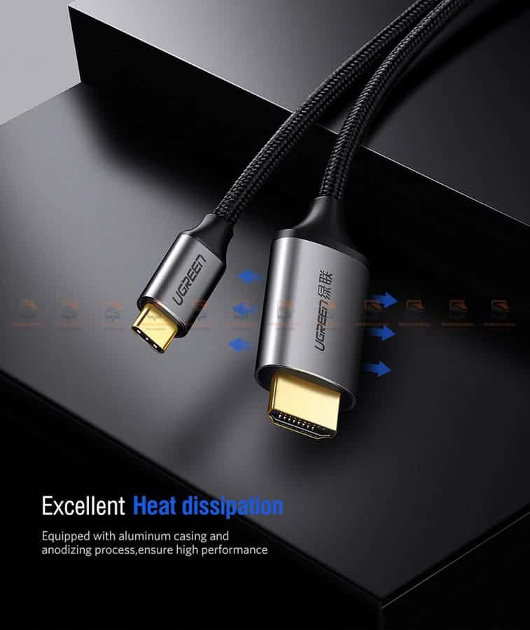 Ugreen USB-C HDMI Cable Type C to HDMI Thunderbolt 3 for MacBook Samsung Galaxy S9S8 Huawei Mate 10 Pro P20 USB-C HDMI Adapter-10