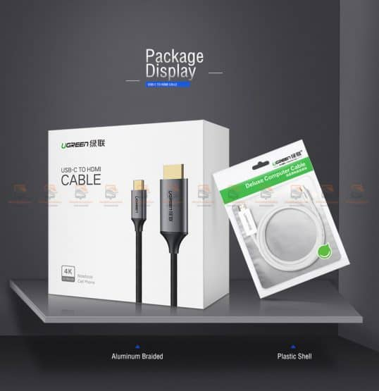 Type-C to HDMI Thunderbolt 3 for MacBook Samsung Galaxy S9/S8 Huawei Mate 10 Pro P20 USB-C HDMI Adapter BYUgreen-12
