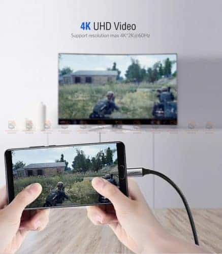 Type-C to HDMI Thunderbolt 3 for MacBook Samsung Galaxy S9/S8 Huawei Mate 10 Pro P20 USB-C HDMI Adapter BYUgreen-2