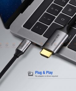 Type-C to HDMI Thunderbolt 3 for MacBook Samsung Galaxy S9/S8 Huawei Mate 10 Pro P20 USB-C HDMI Adapter BYUgreen-5