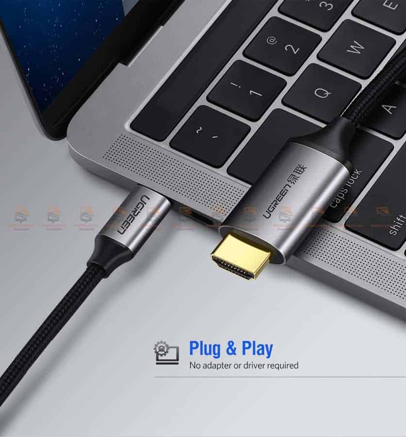 Ugreen USB-C HDMI Cable Type C to HDMI Thunderbolt 3 for MacBook Samsung Galaxy S9S8 Huawei Mate 10 Pro P20 USB-C HDMI Adapter-5