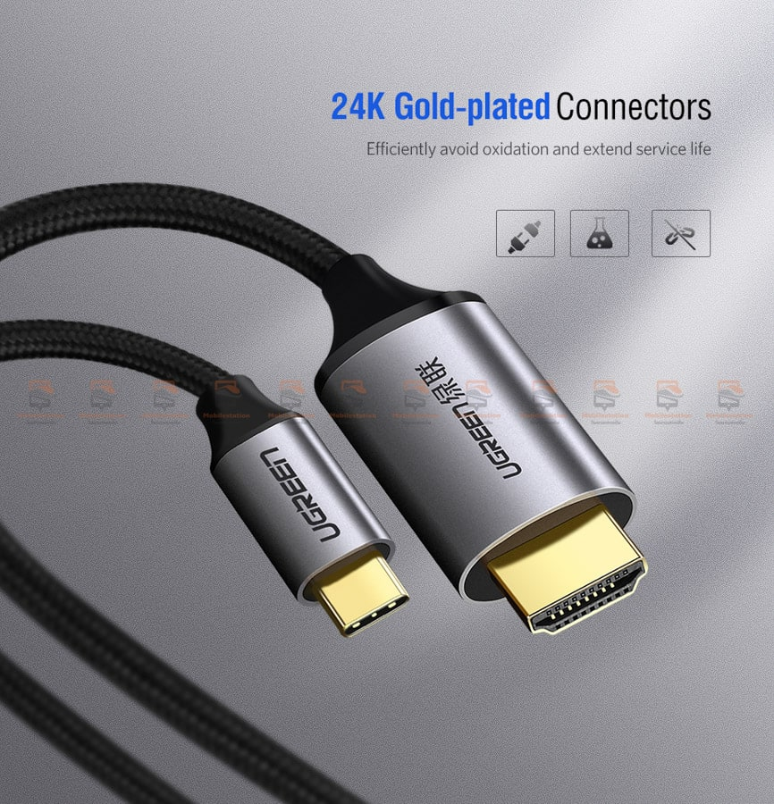 Ugreen USB-C HDMI Cable Type C to HDMI Thunderbolt 3 for MacBook Samsung Galaxy S9S8 Huawei Mate 10 Pro P20 USB-C HDMI Adapter-8