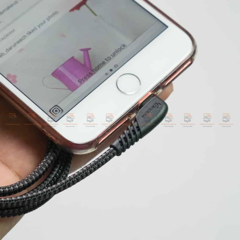 สายชาร์จไอโฟน TIEGEM 90 Degree For iPhone X 8 7 6 5 6s plus 2.1A Fast Charger Data Cable รีวิว ตัวอย่างสินค้าจริง-2