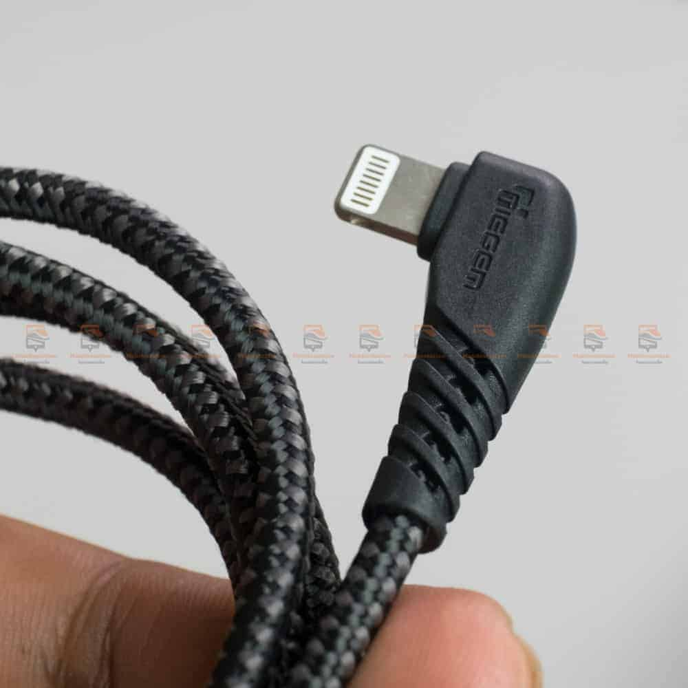 สายชาร์จไอโฟน TIEGEM 90 Degree For iPhone X 8 7 6 5 6s plus 2.1A Fast Charger Data Cable รีวิว ตัวอย่างสินค้าจริง-4