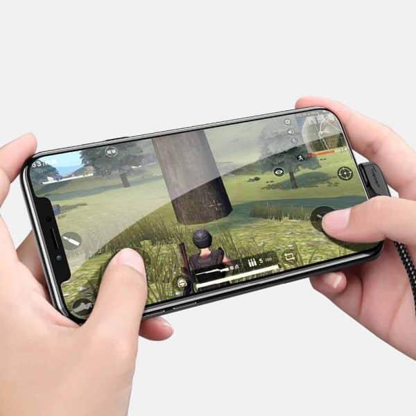 สายชาร์จไอโฟน TIEGEM 90 Degree For iPhone X 8 7 6 5 6s plus 2.1A Fast Charger Data Cable-12