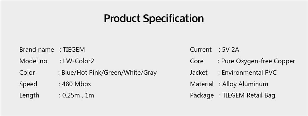 สายชาร์จไอโฟน lightning TIEGEM Nylon Fiber Sturdy For iPhone iPad 2.5A Fast Charger-10