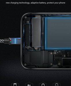 สายชาร์จ Micro USB Cable TIEGEM Nylon Fiber Sturdy For Samsung android 2.5A Fast Charger-2
