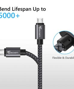 สายชาร์จ Micro USB Cable TIEGEM Nylon Fiber Sturdy For Samsung android 2.5A Fast Charger-5
