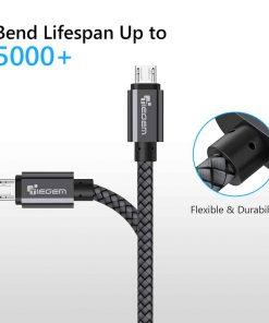 สายชาร์จ Micro USB Cable TIEGEM Nylon Fiber Sturdy For Samsung android 2.5A Fast Charger-5
