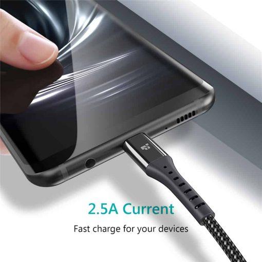 สายชาร์จ Micro USB TIEGEM Nylon Fast Charging Cable For Samsung android-2