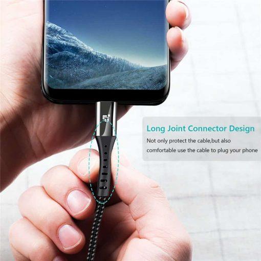 สายชาร์จ Micro USB TIEGEM Nylon Fast Charging Cable For Samsung android-3