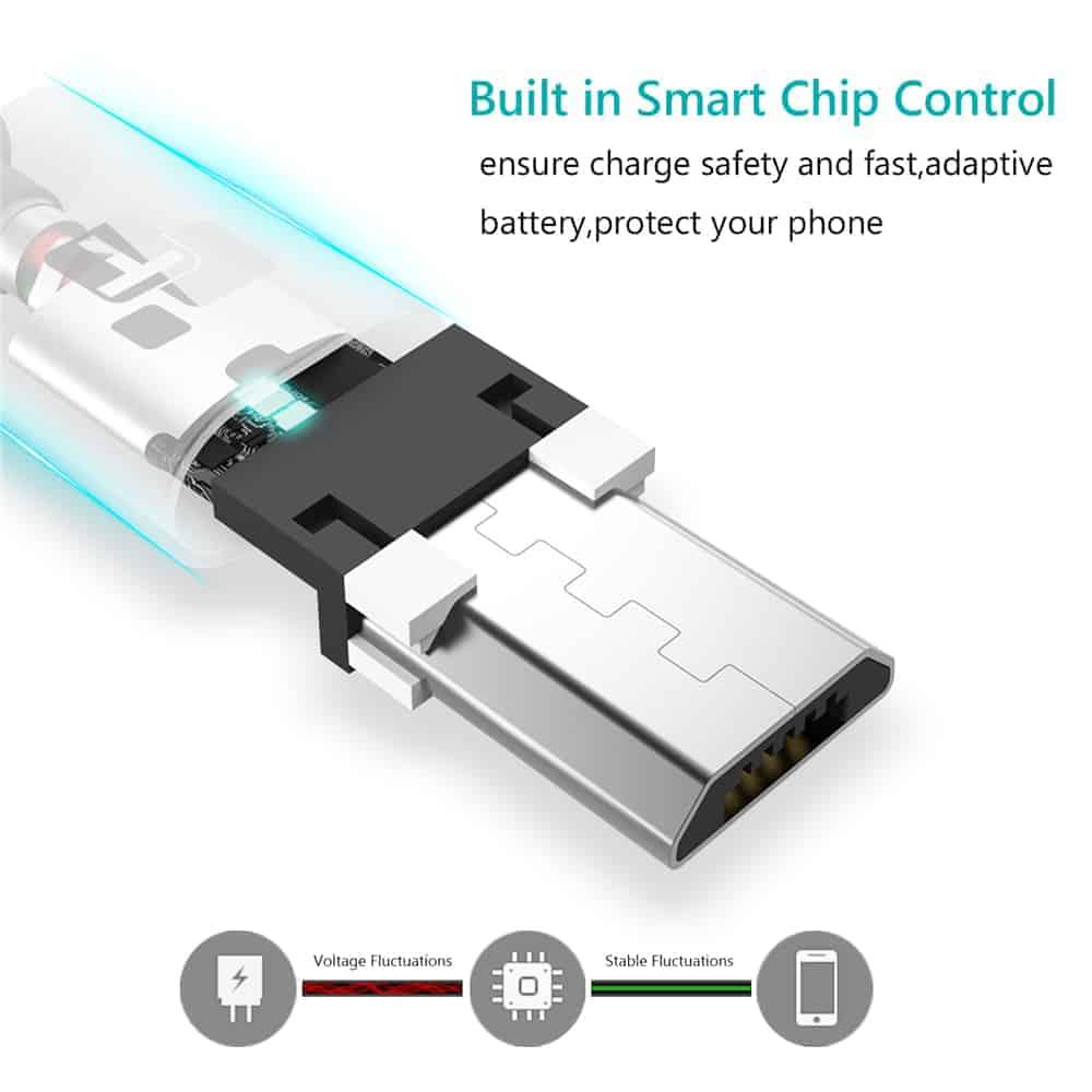 สายชาร์จ Micro USB TIEGEM Nylon Fast Charging Cable For Samsung android-8