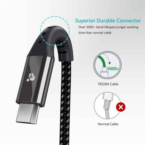 สายชาร์จ Micro USB TIEGEM Nylon Fast Charging Cable For Samsung android-9