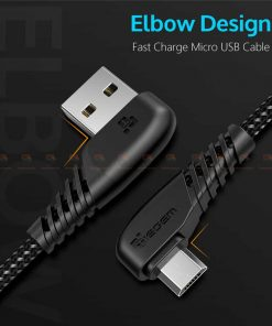 สายชาร์จ Samsung-android TIEGEM 90 Degree Micro USB Cable 2.5A Fast Charger Data Cable-1
