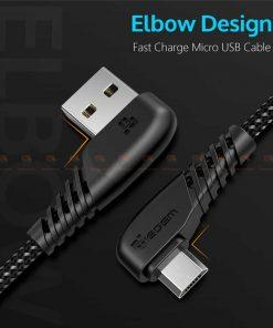 สายชาร์จ Samsung-android TIEGEM 90 Degree Micro USB Cable 2.5A Fast Charger Data Cable-1