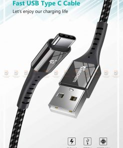 สายชาร์จ Type C TIEGEM Nylon Fast Charging Cable For Samsung android-1
