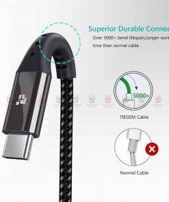 สายชาร์จ Type C TIEGEM Nylon Fast Charging Cable For Samsung android-10