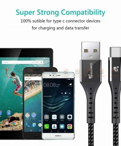 สายชาร์จ Type C TIEGEM Nylon Fast Charging Cable For Samsung android-11