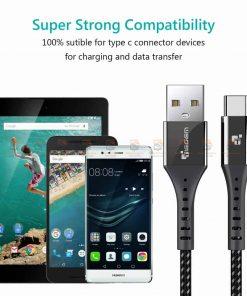 สายชาร์จ Type C TIEGEM Nylon Fast Charging Cable For Samsung android-11