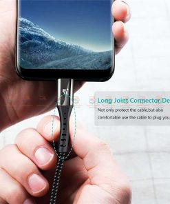 สายชาร์จ Type C TIEGEM Nylon Fast Charging Cable For Samsung android-3
