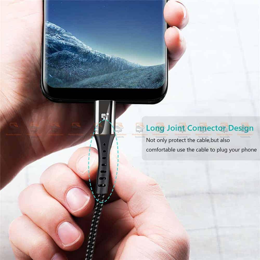 สายชาร์จ Type C TIEGEM Nylon Fast Charging Cable For Samsung android-3