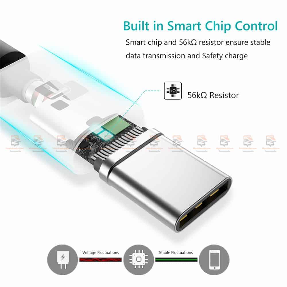 สายชาร์จ Type C TIEGEM Nylon Fast Charging Cable For Samsung android-9