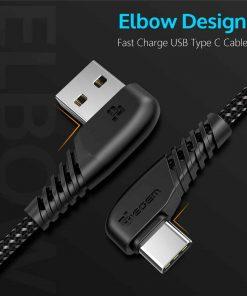 สายชาร์จ USB Type C TIEGEM 90 Degree For Samsung android 2.5A Fast Charger Data Cable-1