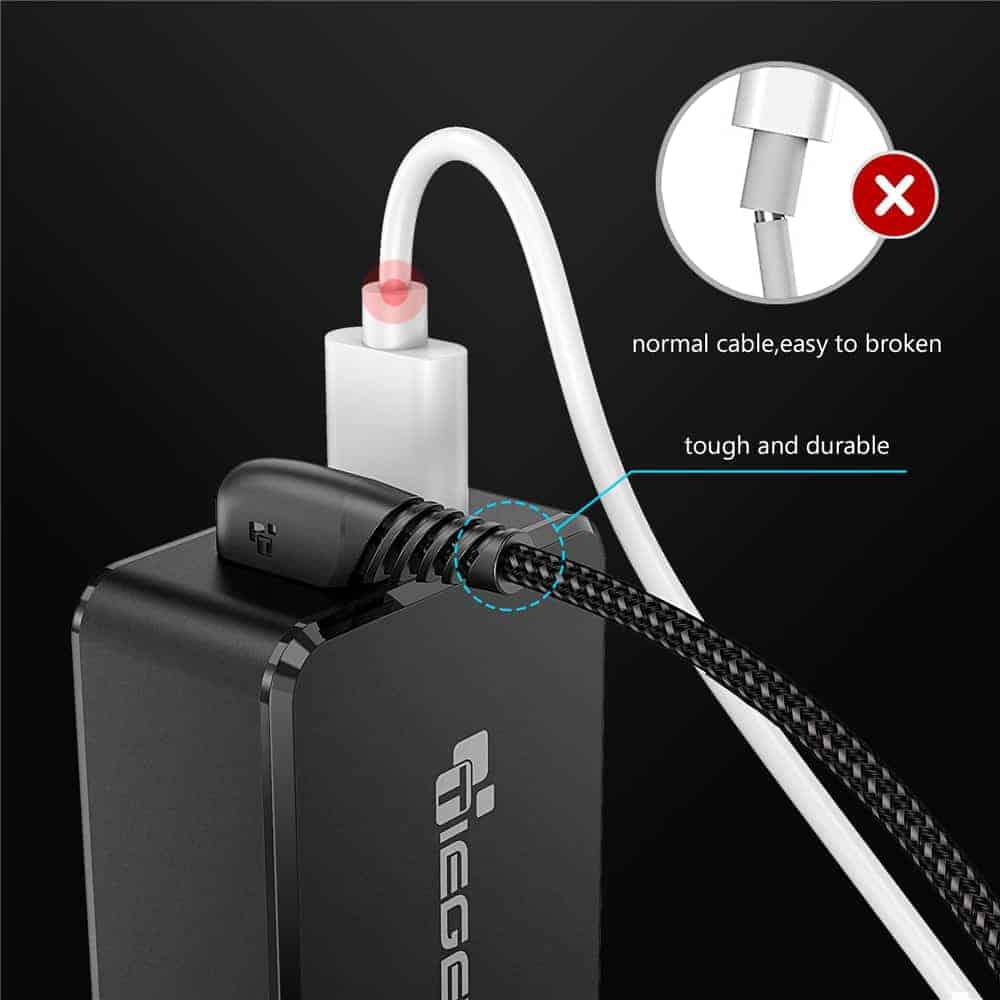 สายชาร์จ USB Type C TIEGEM 90 Degree For Samsung android 2.5A Fast Charger Data Cable-10