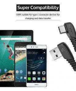 สายชาร์จ USB Type C TIEGEM 90 Degree For Samsung android 2.5A Fast Charger Data Cable-12