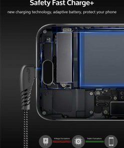 สายชาร์จ USB Type C TIEGEM 90 Degree For Samsung android 2.5A Fast Charger Data Cable-3