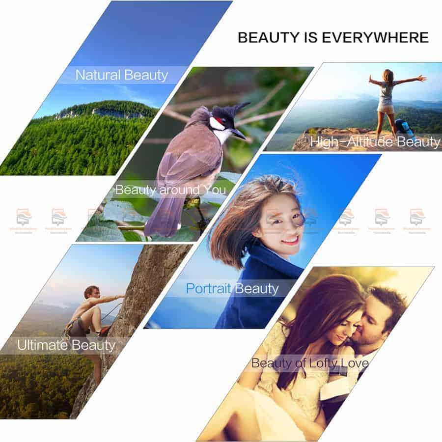 เลนส์มือถือ หน้าชัดหลังเบลอ APEXEL Professional phone Lens HD bokeh portrait 65mm-5