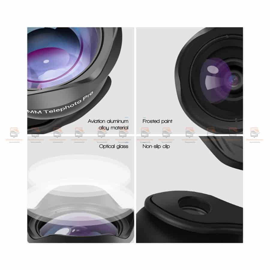 เลนส์มือถือ หน้าชัดหลังเบลอ APEXEL Professional phone Lens HD bokeh portrait 65mm-6