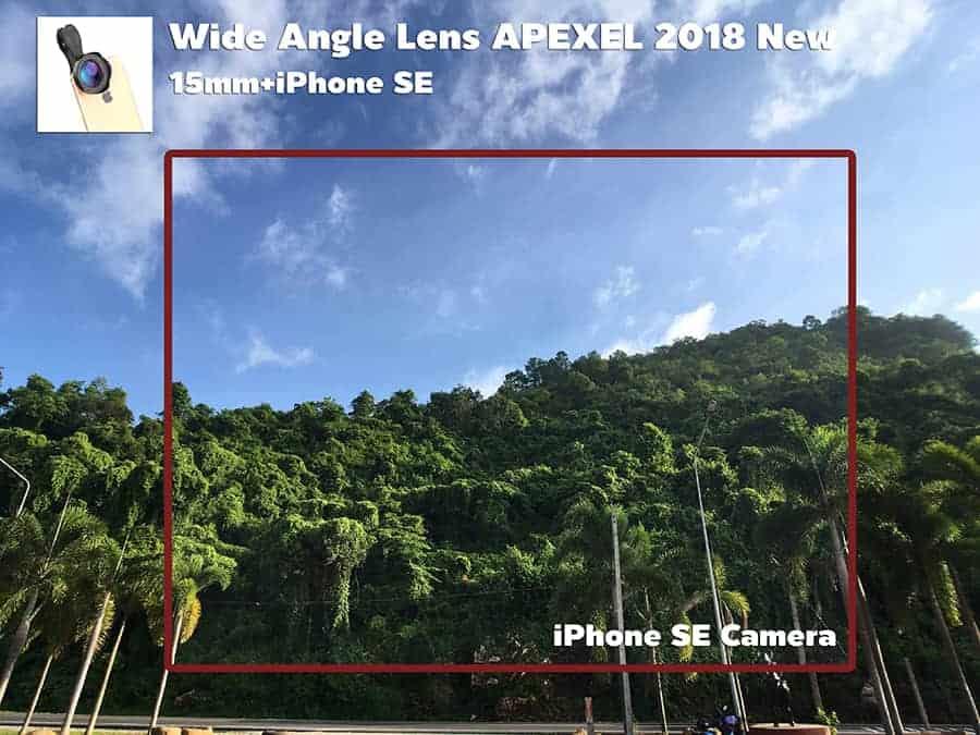 เลนส์มือถือ Wide Angle Lens APEXEL 2018 New 15mm รีวิวตัวอย่างภาพถ่ายจริง-3