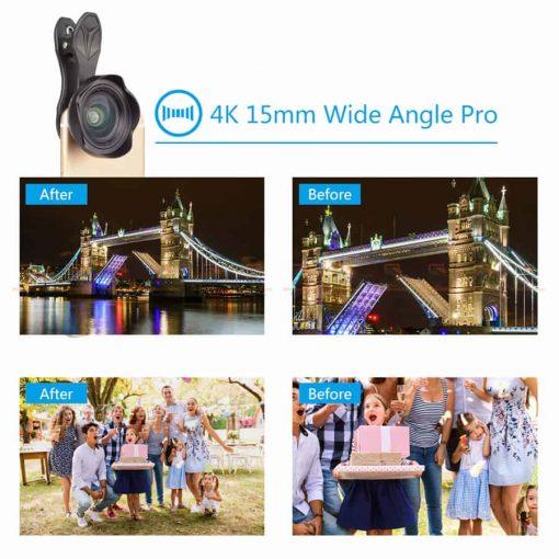 เลนส์มือถือ Wide Angle Lens APEXEL 2018 New 15mm-1