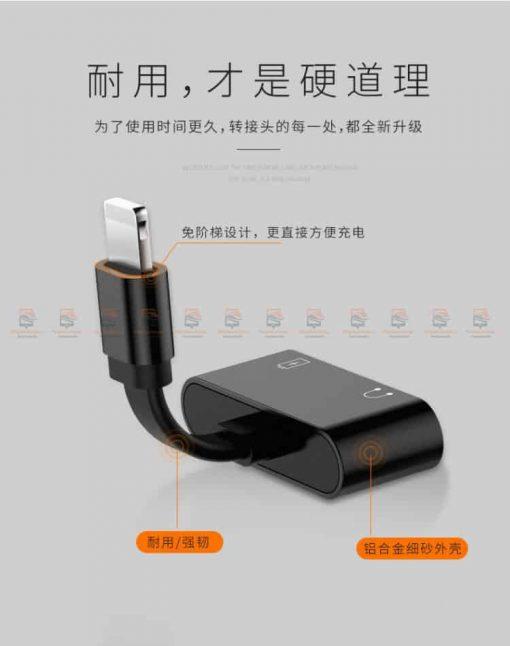 Lightning adapter for iPhone 7 8 X ฟังเพลง พร้อมชาร์จ ยี่ห้อ Torras-23
